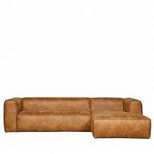 canape d39angle droit cuir cognac bean by drawer With tapis yoga avec canapé d angle lyon
