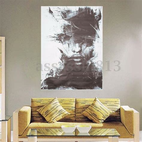 Abstract On Black Canvas by Modern Abstract Vogue Black Painting On Canvas