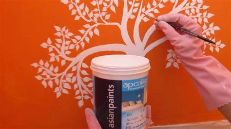 Wall Painting Stencils Youtube Asian Paints Wall Art Youtube