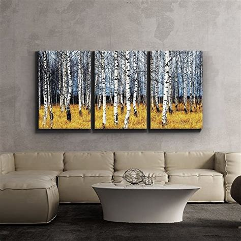 framed aspen tree fall modern large wall art giclee