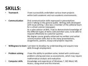 teamwork skills in resume revising my curriculum vitae