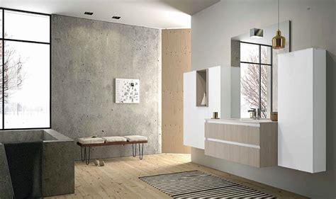 meuble de salle de bain suspendu blanc  bois clair mb