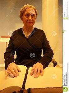 Helen Keller Wax Figure Editorial Photography