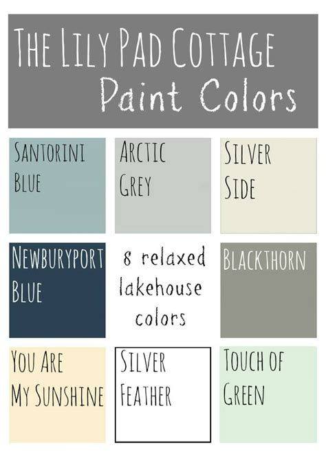 best paint colors for lake house my paint colors 8 relaxed lake house colors the lilypad cottage
