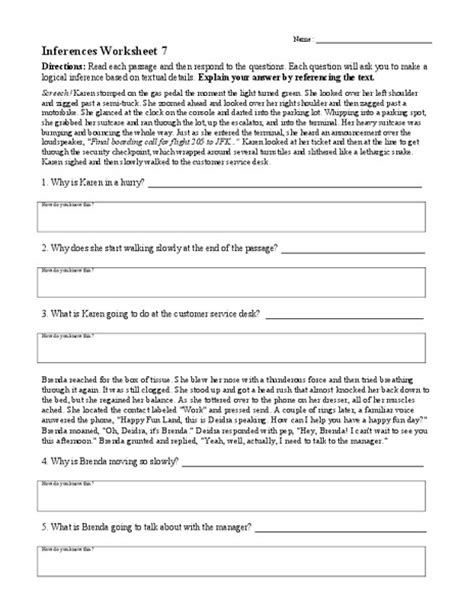4th Grade » Inference Worksheets 4th Grade  Printable Worksheets Guide For Children And Parents