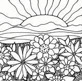 Landscapes sketch template