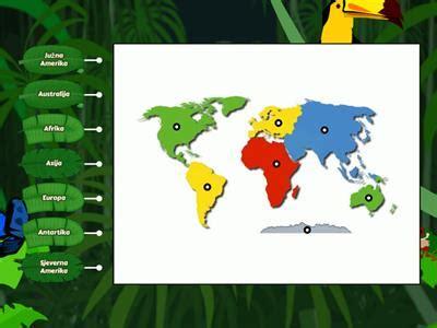 Geografija Karta svijeta kontinenti - Nastavna sredstva