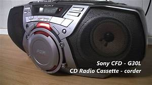 Sony Cfd - G30l Radio Cassette - Corder Boombox