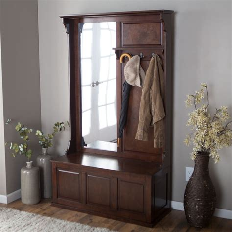 Entryway Benches With Storage And Coat Rack - entryway tree coat rack storage bench vertical mirror