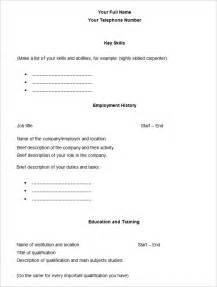 Blank Resume Forms by Fill In Blank Resume Form Fill In The Blank Sle Resume Resume Fill In The 79 Wonderful Free
