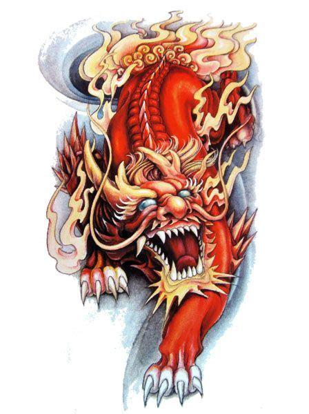 japanese lion tattoos designs ideas