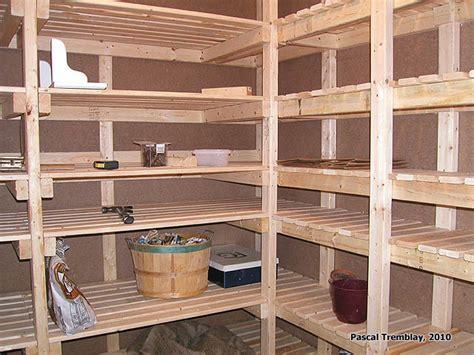 chambre froide au sous sol plan rangement pour les conserves