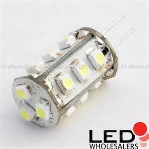g4 base 15 led halogen replacement bulb 12 volt ac dc bi
