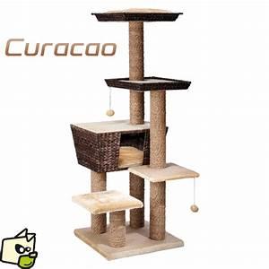 Arbre A Chat Moderne : griffoir perchoir g ant curacao pour chat ~ Melissatoandfro.com Idées de Décoration