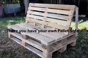Fabriquer Meuble Bois Facile : fabriquer sofa canape avec des palettes de bois tuto maison jardin astuce ~ Nature-et-papiers.com Idées de Décoration