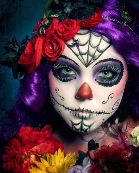 easy   style sugar skull makeup  day   dead