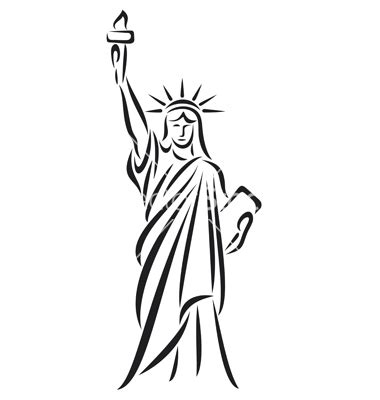 Statue Of Liberty Drawing Template by Statue Of Liberty Line Drawing At Getdrawings Free