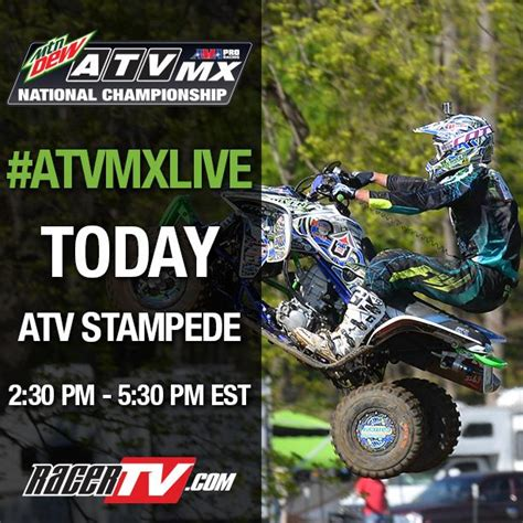 watch ama motocross live watch atvmx live on racertv com today atv motocross