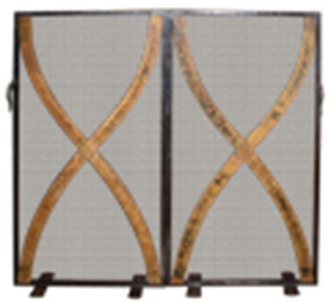 hearth fireplace screens  wrought iron copper  steel
