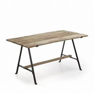 Table Bois Et Noir : table manger fer noir et bois de manguier aria by drawer ~ Dailycaller-alerts.com Idées de Décoration