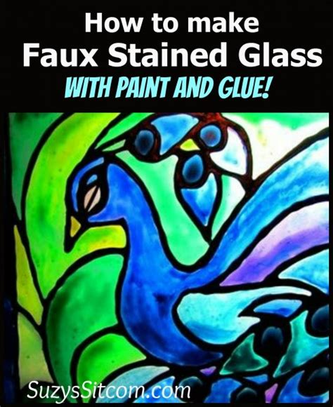 how to make glass l faux stained glass