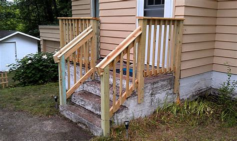 Wooden Handrails For Outdoor Steps - railings for outdoor stairs newsonair org