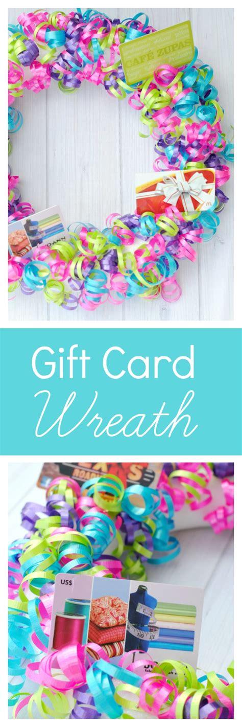 Creative Gift Card Ideas Gift Card Wreath Funsquared