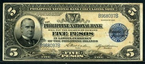 philippines  pesos banknote   president william mckinley american period banknote