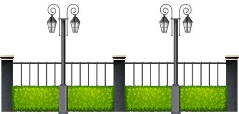 pet gate metal fence with streetlights png clipart best web clipart