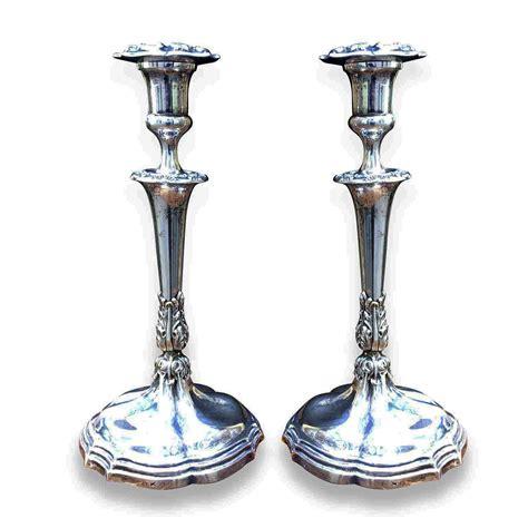 candelieri antichi coppia di candelieri in argento antico della met 224 1800