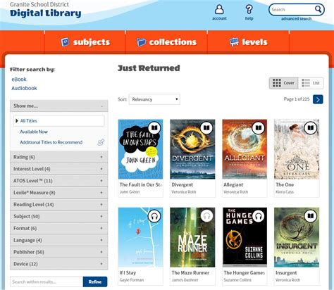 overdrive granite school district s digital library