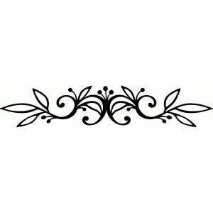 Silhouette Design Store - View Design #68640: vine flourish