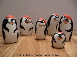 artisanat d art galet peint quot pingouin de no 235 l quot ref n