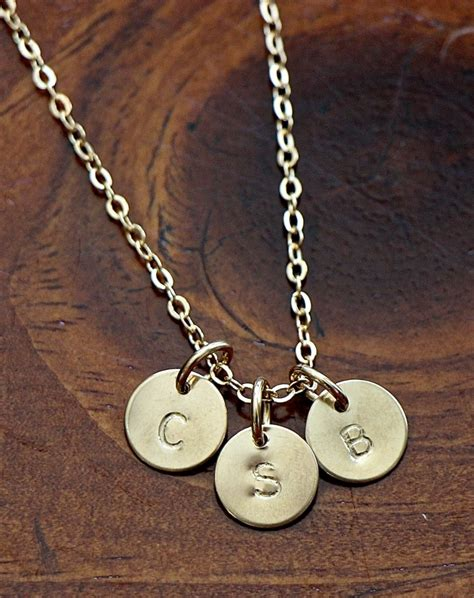 Gold Initial Necklace Personalized | kandsimpressions