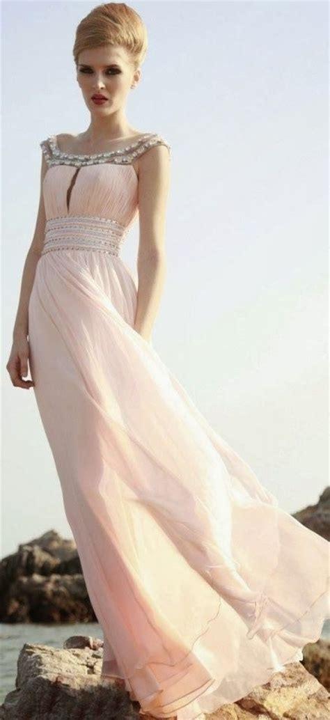 vestidos largos rosa palo