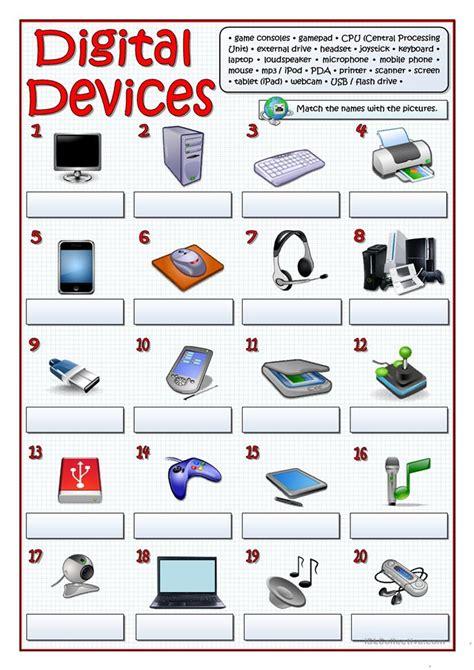 digital devices worksheet free esl printable worksheets