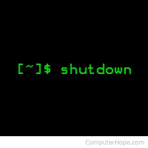linux shutdown command   examples