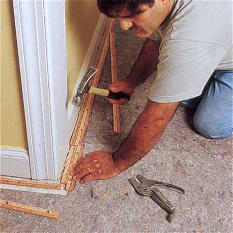 how to lay carpet install the tack strips how to install carpeting this old house