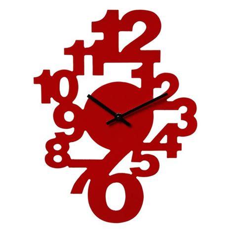 horloge pour cuisine moderne horloge murale chiffres couleur maison futée