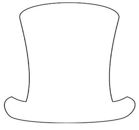 top hat template the gallery for gt mad hatter hat coloring page