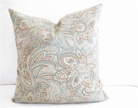 Paisley Pillow 16x16 Inch Blue Brown Decorative Pillow Textured Interior Wall Paint Cool Textures Best For Wood New House Colors Exterior Most Durable Behr Review Garage