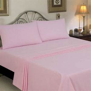 Shop Super Soft Solid Double Bed Sheet With 2 Pillow ...