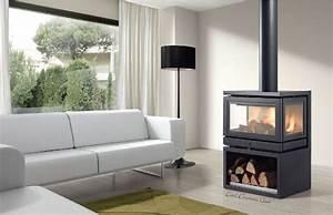 Poil A Bois Suspendu : poele a bois panoramique energies naturels ~ Premium-room.com Idées de Décoration