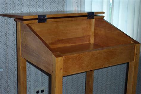 standing desk  chuckv  lumberjockscom woodworking