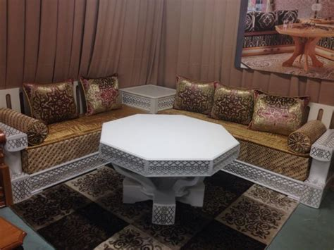magasin canap canapés de salon marocain en bois décor salon marocain