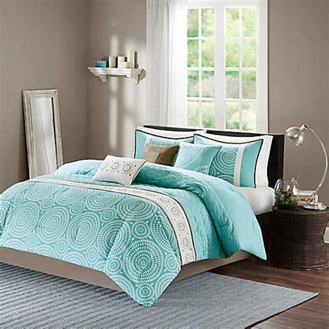 teal king size comforter sets park phoebe 7 comforter set in teal bed 8438