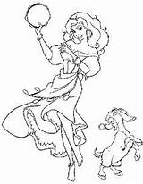Coloring Gypsy Pages Dame Notre Disney Esmeralda Hunchback Colouring Printable Colors Adult 304px 81kb sketch template
