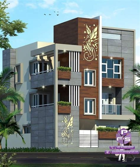 by dwarkadhish co elevation 3 in 2019 house wall design house front design front