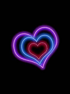 animated neon pulsing heart