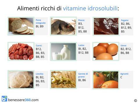 alimenti ricchi di vit b12 vitamine idrosolubili dove si trovano quali sono e a